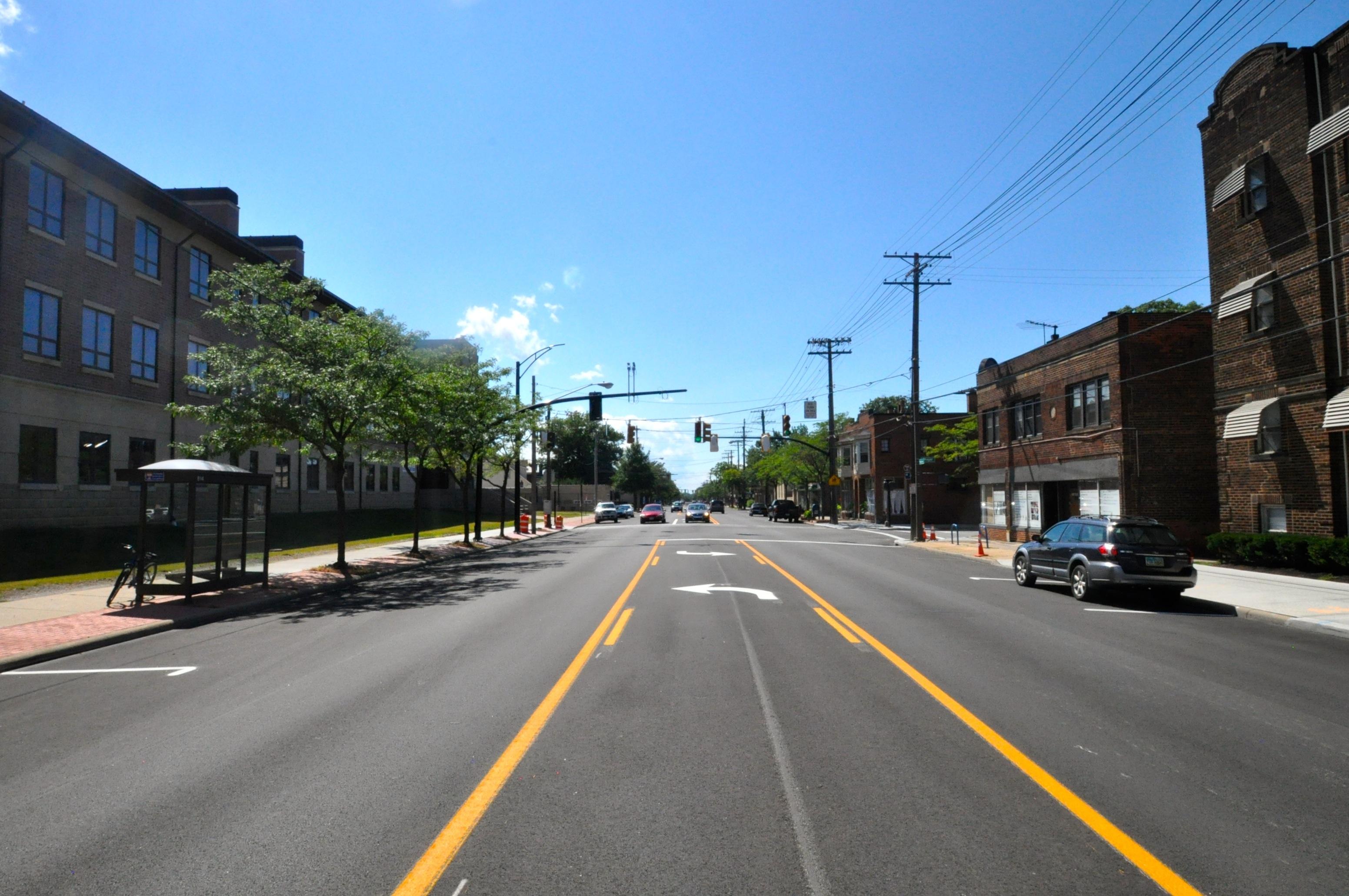 Photo of newly paved Madison Avenue