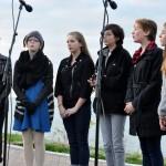Photo of Lakewood City Schools choir performing at Solstice Steps
