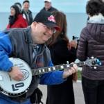 Photo of Gary Rice performing the banjo