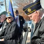 Photo of veterans, including Jim Kilbane, on Veteran's Day in 2015