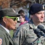 Photo of veterans on Veteran's Day in 2015