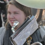 Photo of Lakewood High School Marching Band player at Veteran's Day Ceremony