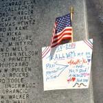 Sign at Veteran's Day Celebration 2015