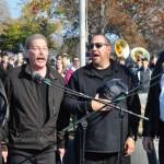 Photo of the Four Vet Quartet singing the National Anthem