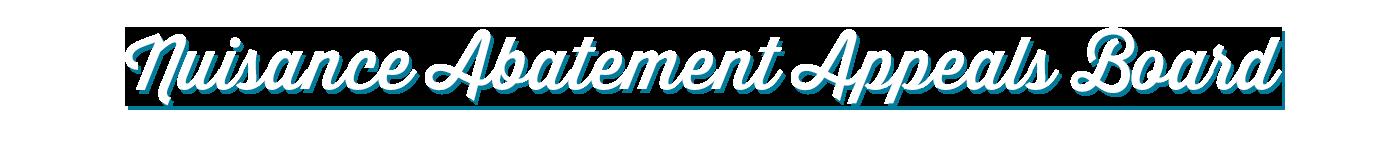 Nuisance Abatement Appeals Board