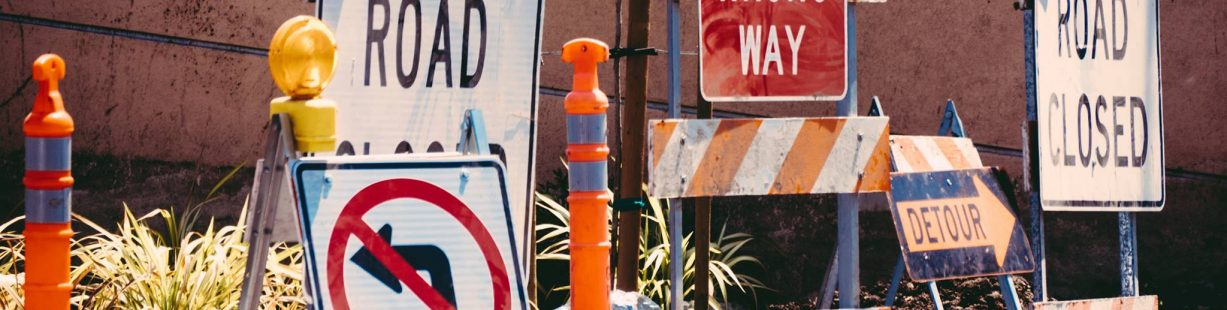 Image of construction signs