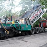 Photo of street construction work