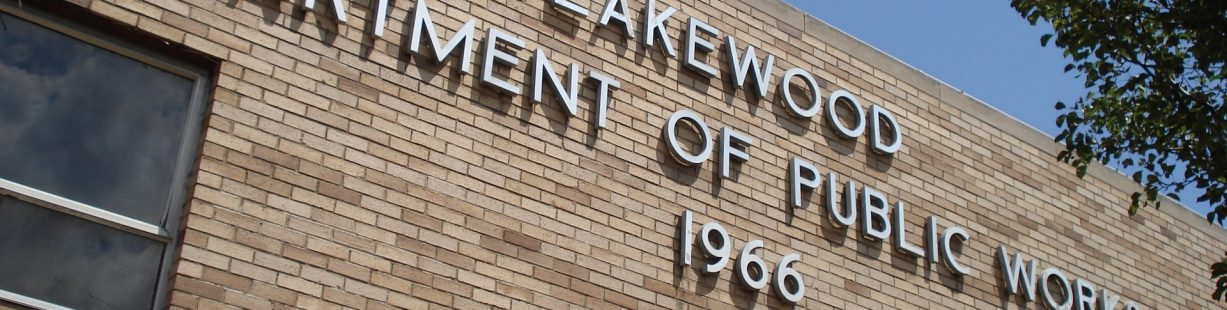 Photo of Lakewood Department of Public Works Sign