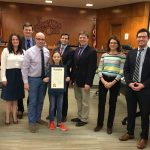 Photo of Lakewood City Council with Essay Contest Winner 2020