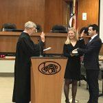 Photo of Councilman Jason Shachner being sworn in