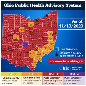 Image of Ohio Public Health Advisory Map